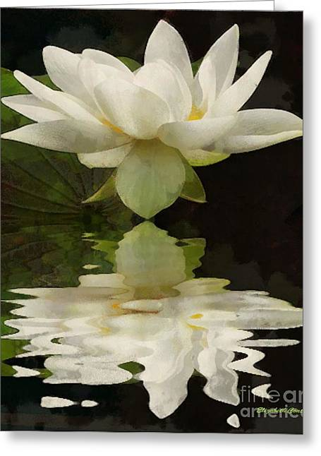 Reflection Of Beauty Greeting Card by Elizabeth Coats