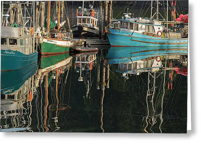 Reflection Of Boast In The Water Greeting Card by Macduff Everton