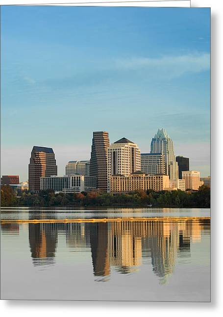 Reflection Of Buildings In Water, Town Greeting Card by Panoramic Images