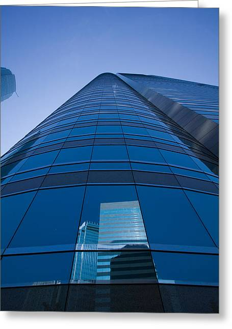 Reflection Of Buildings On A Stock Greeting Card by Panoramic Images