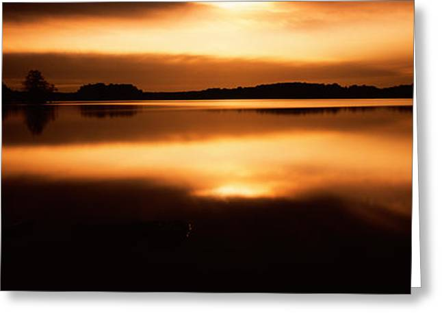Reflection Of Clouds In A Lake, Loch Greeting Card