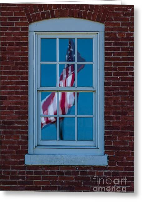 Greeting Card featuring the photograph Reflection Of Freedom by Patrick Shupert