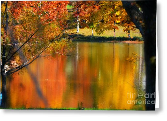 Reflection  Of My Thoughts  Autumn  Reflections Greeting Card