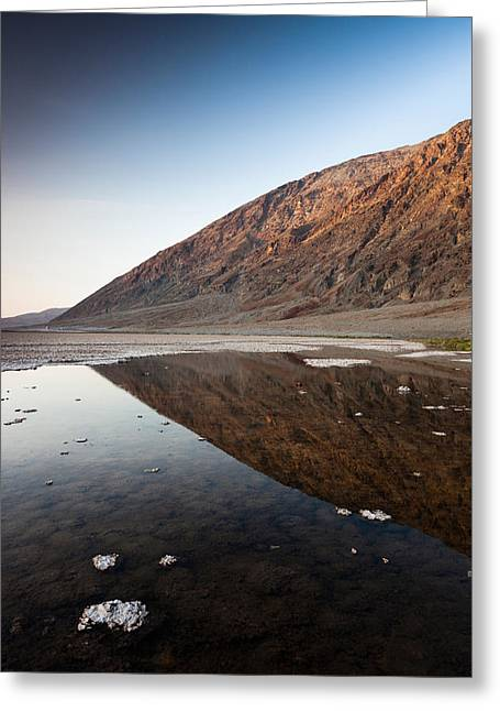 Reflection Of Rock On Water, Western Greeting Card