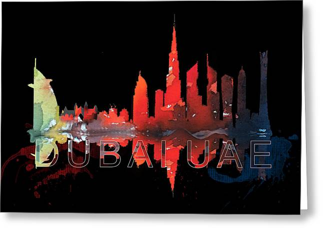 Reflection Of The City At Night Greeting Card