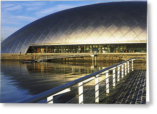 Reflection Of The Glasgow Science Greeting Card by Panoramic Images