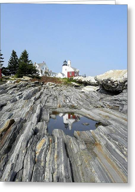 Reflection Of The Lighthouse Greeting Card
