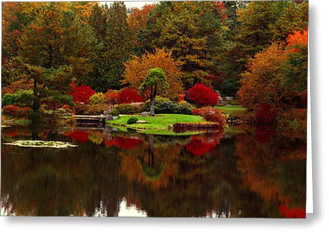 Reflection Of Trees In Water, Japanese Greeting Card by Panoramic Images