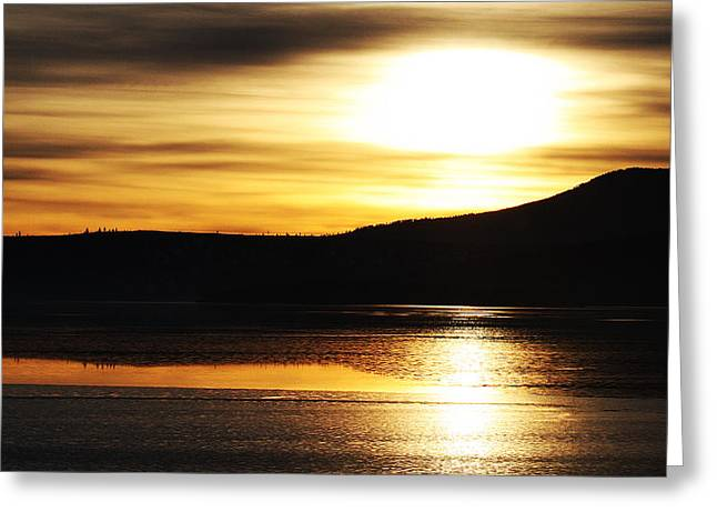 Greeting Card featuring the photograph Reflection On Lake Klamath by Jennifer Muller