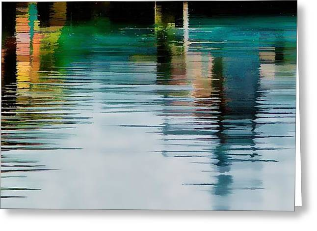Reflection On The River Greeting Card by Pamela Blizzard