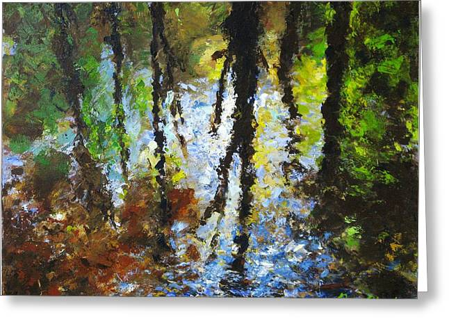 Reflection Greeting Card by Peter Plant