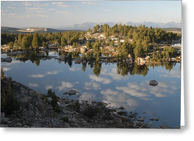 Reflection Pool Near Beartooth Greeting Card by Larry Moloney