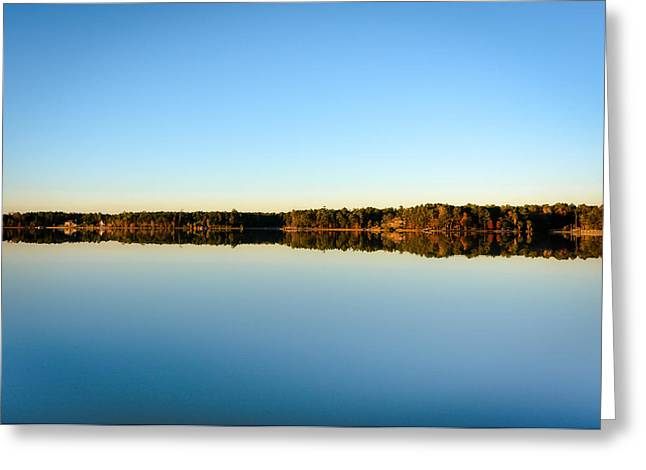 Reflection...lake At Sun Down II Greeting Card