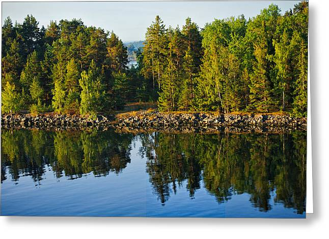 Reflections 1 Sweden Greeting Card by Marianne Campolongo