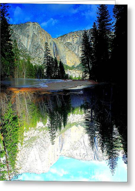 Reflections 1 Yosemite Greeting Card