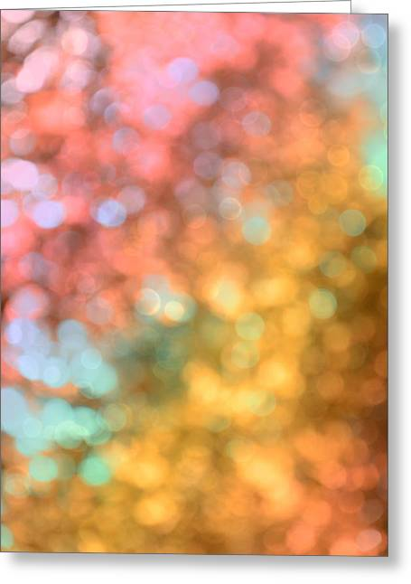Reflections - Abstract  Greeting Card by Marianna Mills