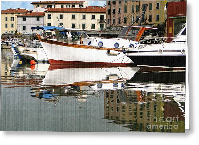 Greeting Card featuring the photograph Reflections Along The Canal by Sue Melvin