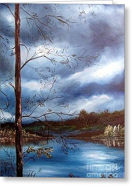 Reflections Greeting Card by Anna-maria Dickinson