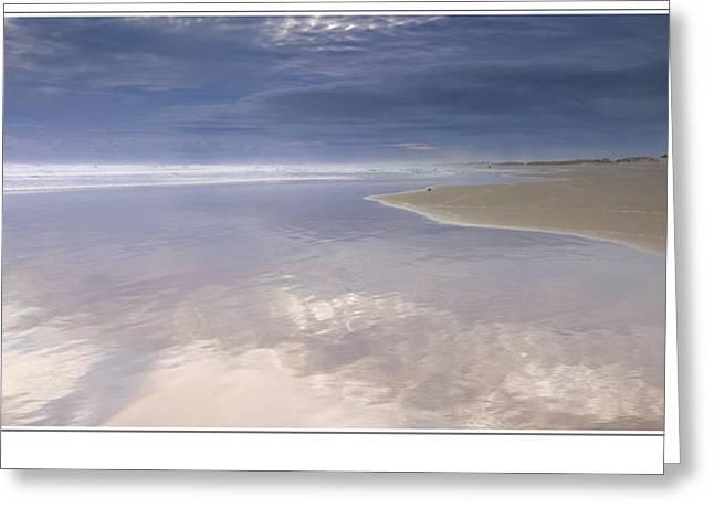 Reflections At Anna Bay Greeting Card by Steve Caldwell