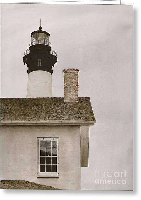 Reflections At Bodie Light Greeting Card