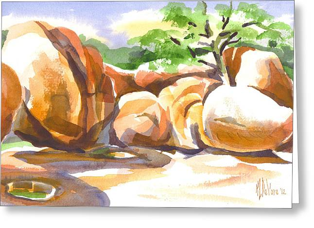 Reflections At Elephant Rocks Greeting Card