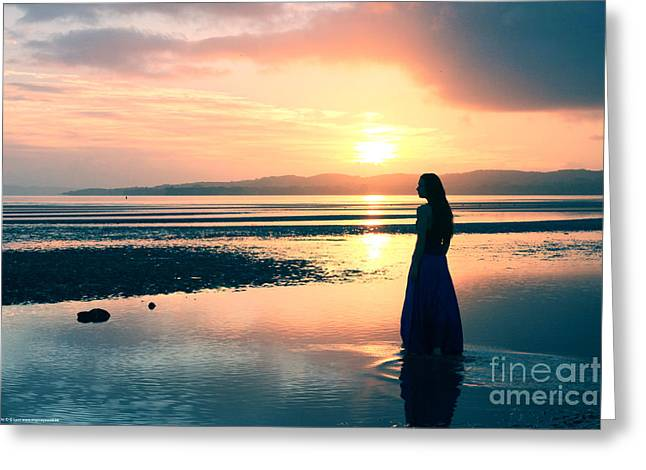 Reflections By The Sea Greeting Card by Gee Lyon