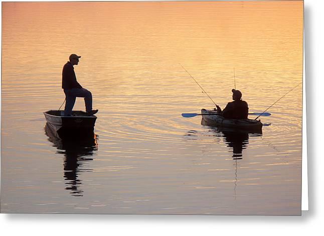 Reflections Fishermen Greeting Card