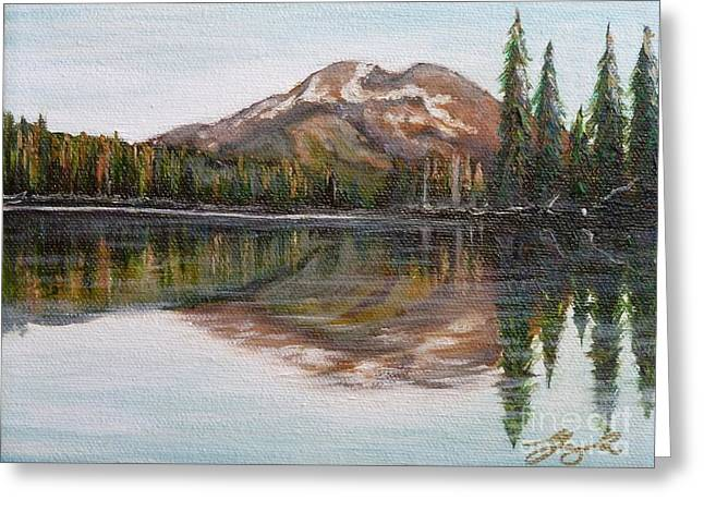 Reflections Greeting Card by Gayle Utter