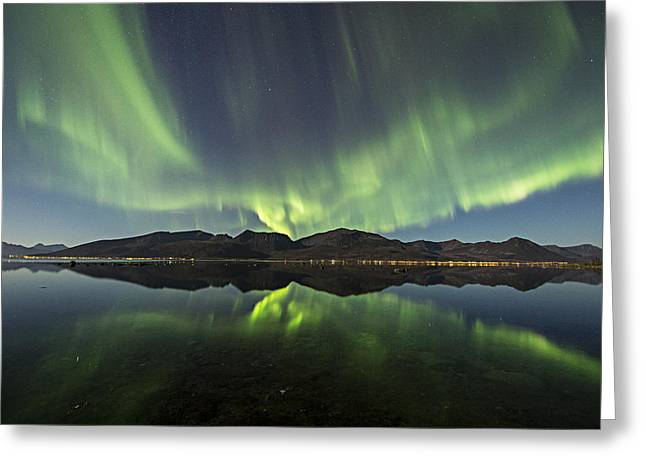 Reflections II Greeting Card by Frank Olsen