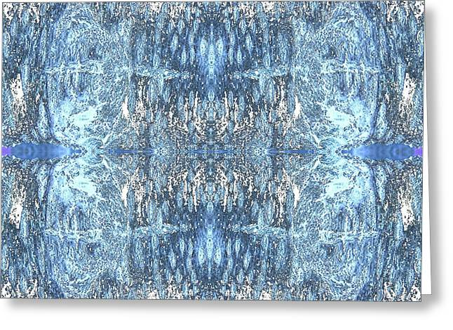 Greeting Card featuring the digital art Reflections In Blue by Stephanie Grant
