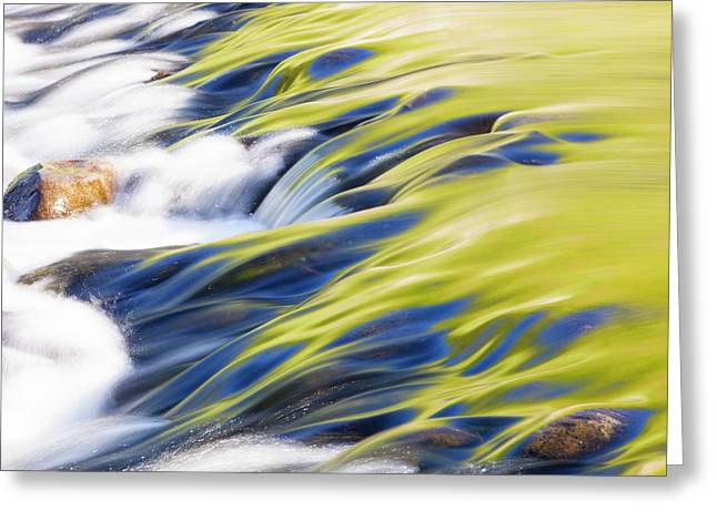 Reflections In Grasmere Weir Greeting Card by Ashley Cooper