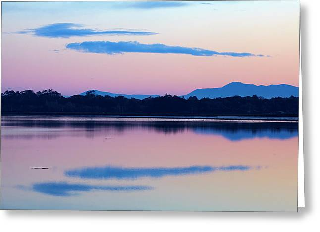 Reflections In New River Estuary Greeting Card