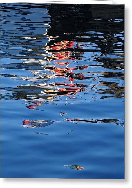 Reflections In Red Greeting Card