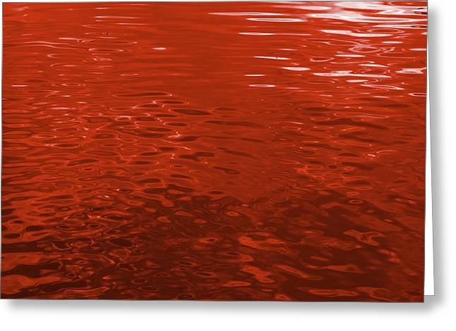 Reflections In Scarlet 2 - Abstract Art Print Greeting Card by Jane Eleanor Nicholas