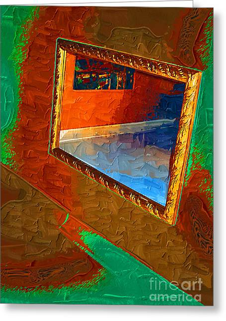 Reflections In The Mirror Greeting Card by Jonathan Steward