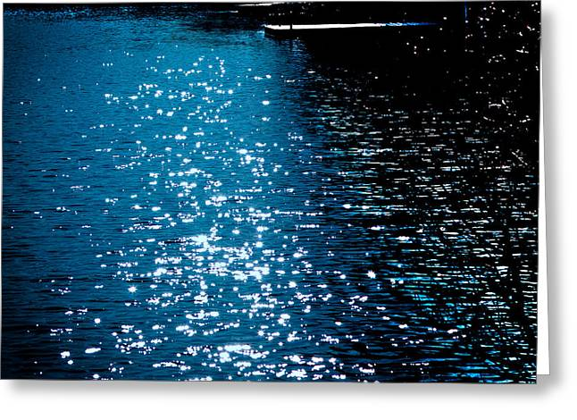 Reflections In The Shadows On The Moose River Greeting Card by David Patterson