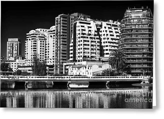 Reflections In Vina Del Mar Greeting Card by John Rizzuto