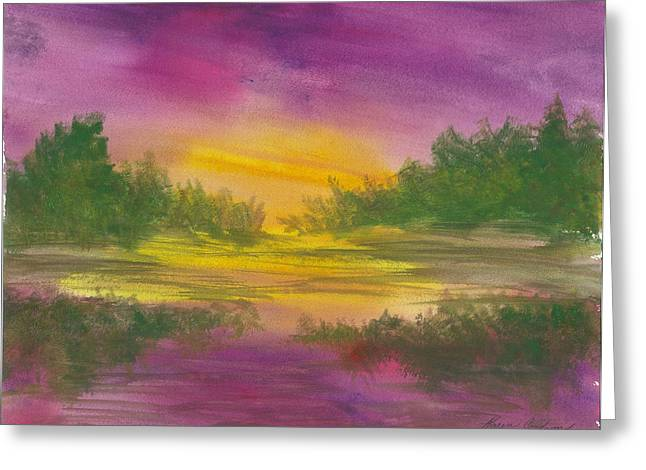 Reflections Greeting Card by Karen  Condron