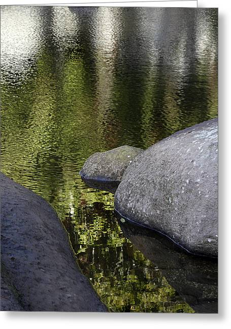 Reflections Greeting Card by Les Cunliffe
