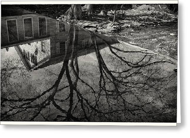 Reflections Northboro Dam Greeting Card by Patrick Garner