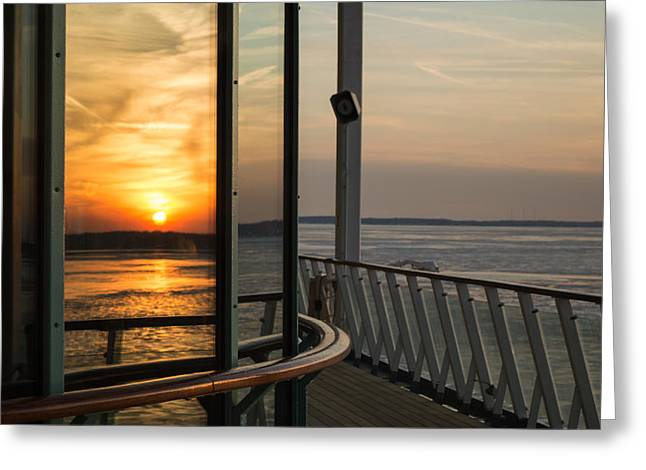 Greeting Card featuring the photograph Reflections Of A Chesapeake Sunset by Bill Swartwout
