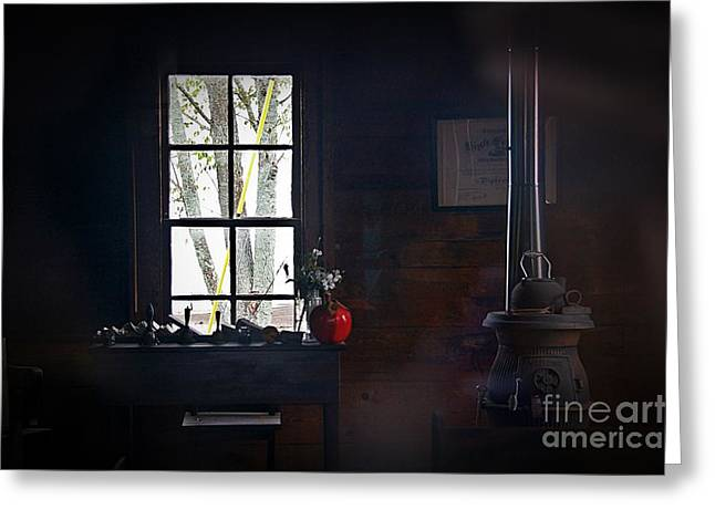 Reflections Of A Red Apple Greeting Card by JW Hanley
