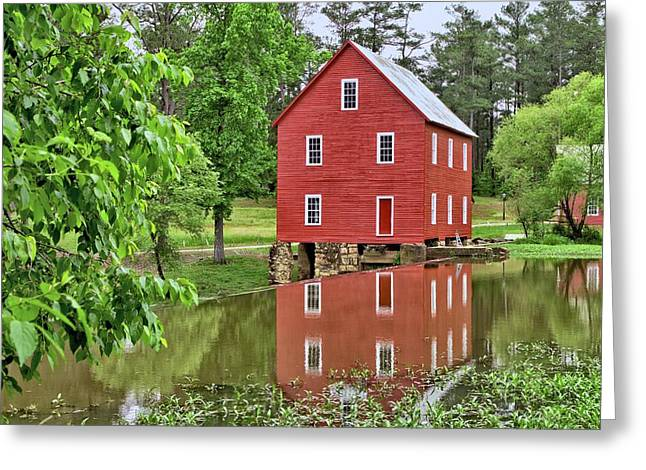 Reflections Of A Retired Grist Mill Greeting Card by Gordon Elwell