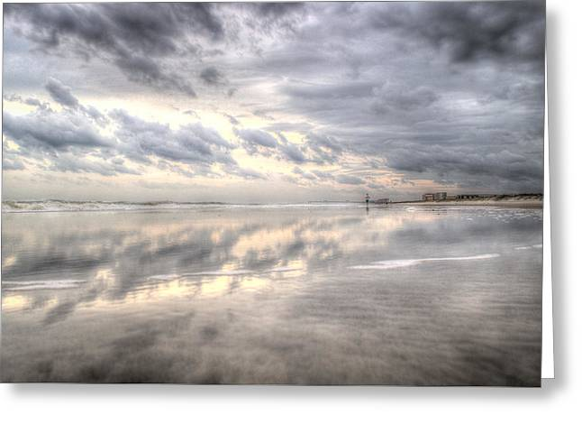 Reflections Of Amelia Island Greeting Card by Wade Brooks