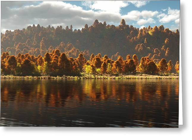 Reflections Of Autumn Greeting Card by Melissa Krauss