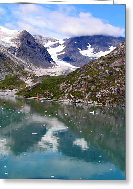 Reflections Of Blue And Green In Alaska Greeting Card