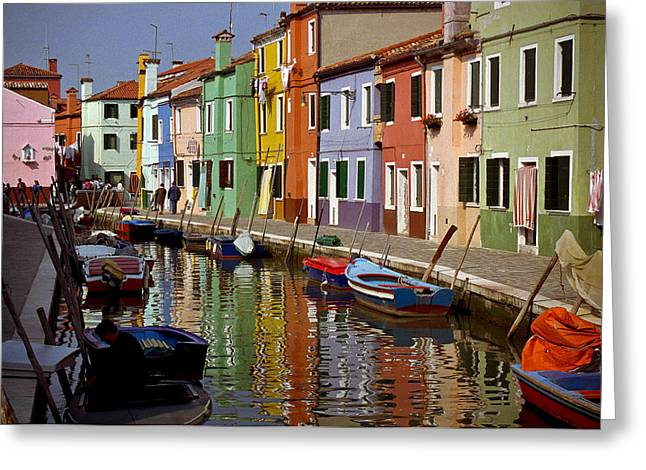 Reflections Of Burano Greeting Card