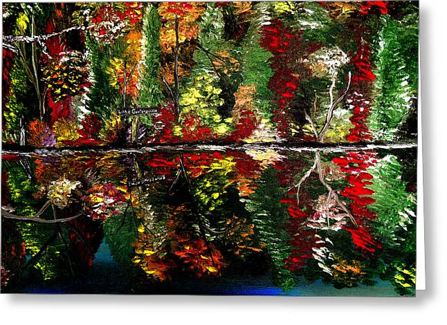 Reflections Of Fall Greeting Card by Mark Moore