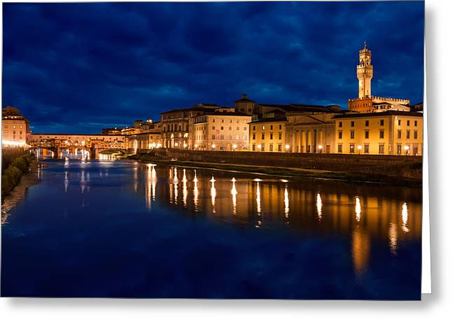 Reflections Of Florence Greeting Card by Gurgen Bakhshetsyan