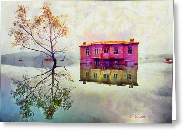 Reflections Of Illusions Greeting Card by George Rossidis